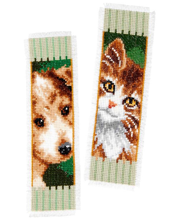 Kirjanmerkit Koira ja kissa 2/pak