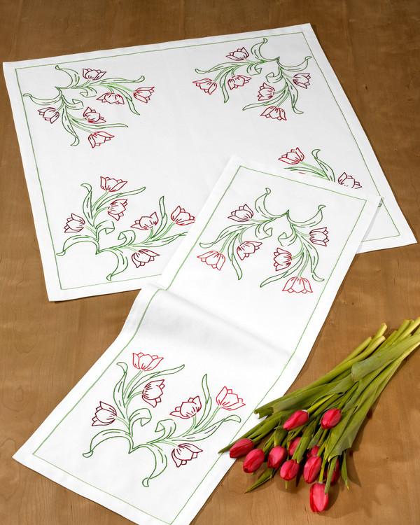 Duk Tulipanblomster