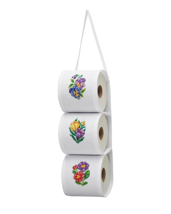 Toarullehållare Blommor