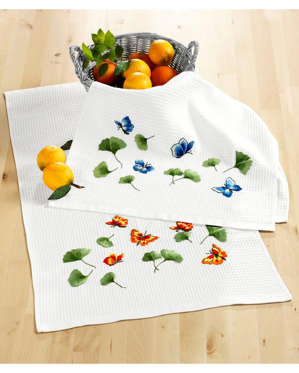 Kökshandduk Fjärilar 2-pack