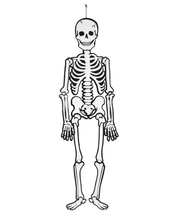 Skelett självlysande