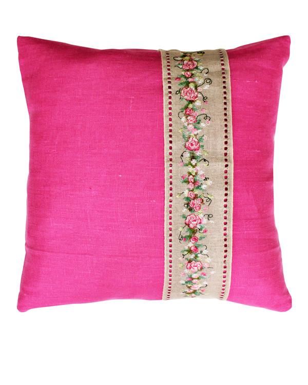 Tyynynpäällinen Kukat roosa