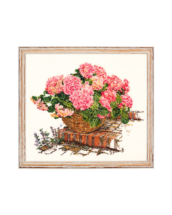 Taulu Roosa hortensia