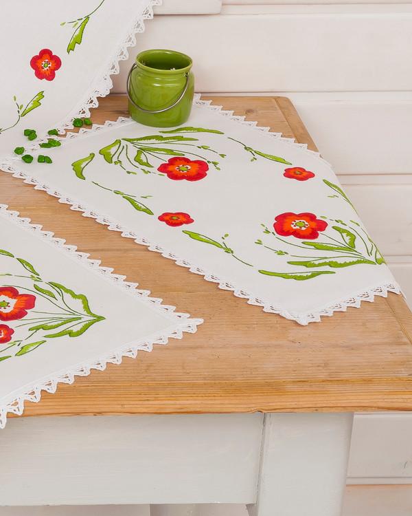 Deckchen Mohn mit oder ohne Garn
