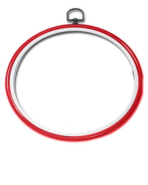 Flexiramme oval rød