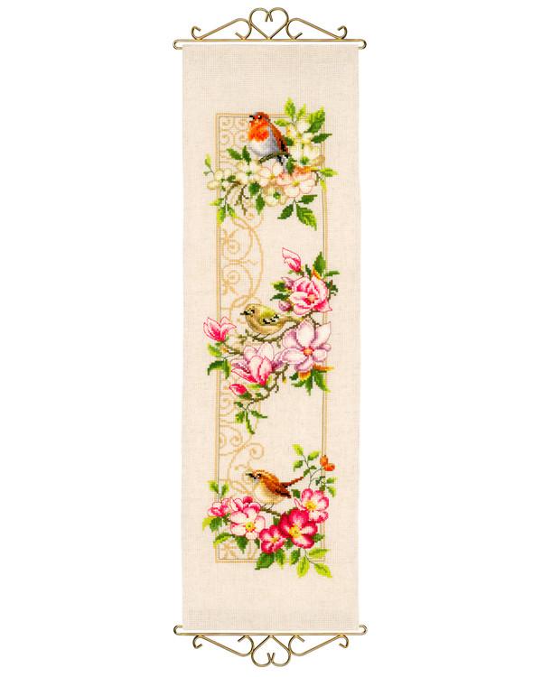 Veggteppe Fugler & blomster