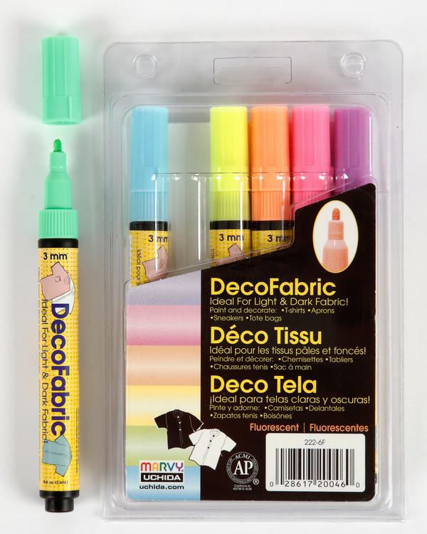 Deco Tekstilpenner neon