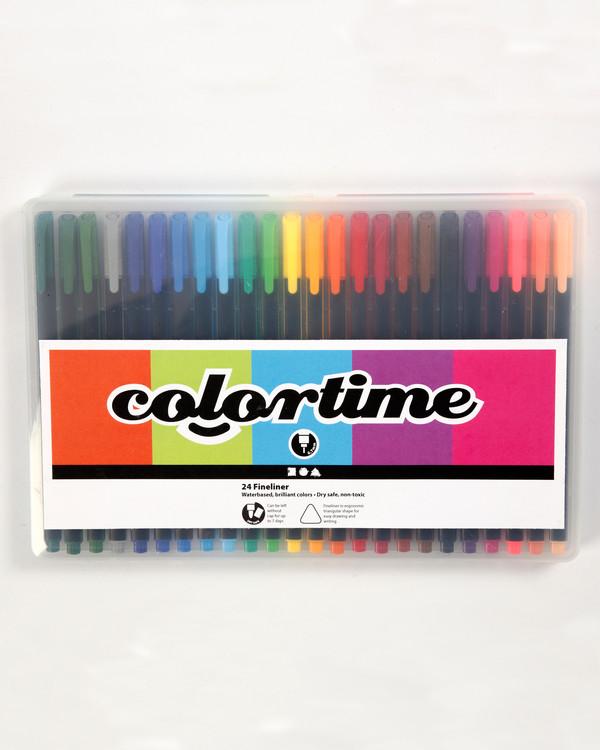 Colortime fineliner -tussikynät värilajitelma 24/pak