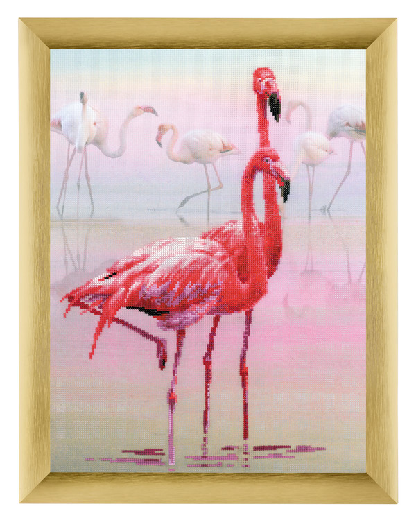 Broderikit Tavla Flamingo