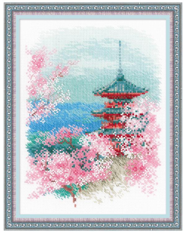 Broderikit Tavla Sakura Pagoda