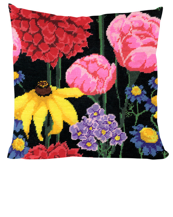Kissen Mitternachtsblumen