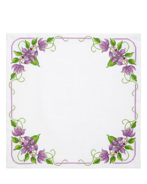 Deckchen Lila Blumen
