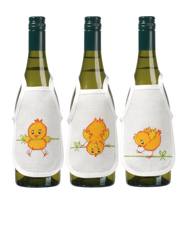 Flaskförkläden Kycklingar 3-pack
