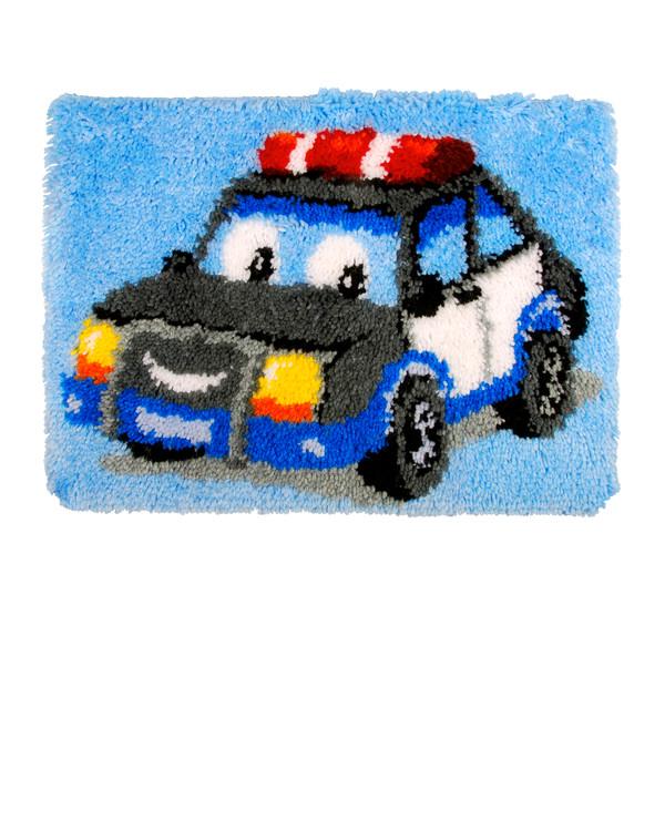 Ryijymatto Poliisiauto