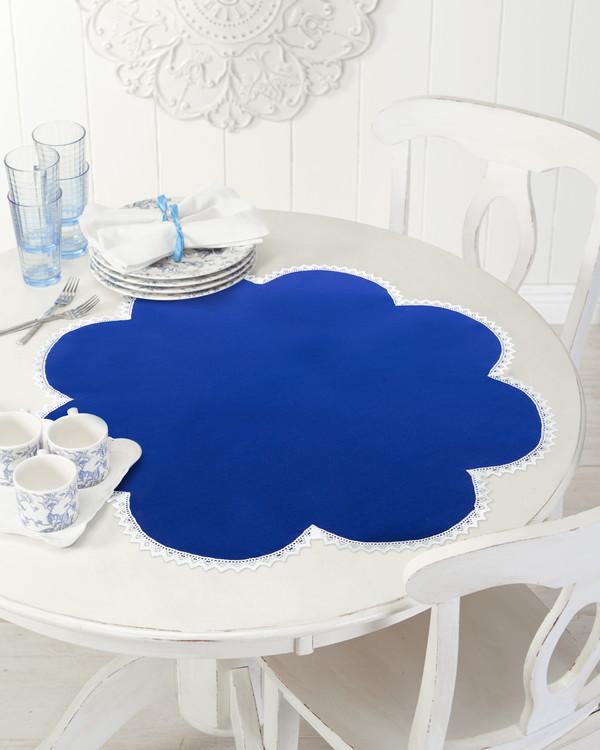 Duk Blomkrans blå