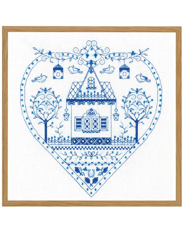 Taulu Sininen sydän