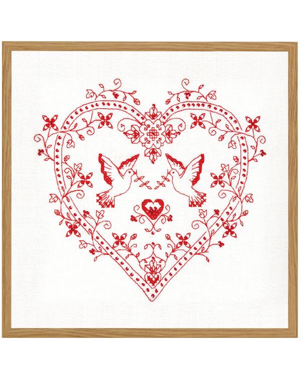 Broderi Rødt hjerte