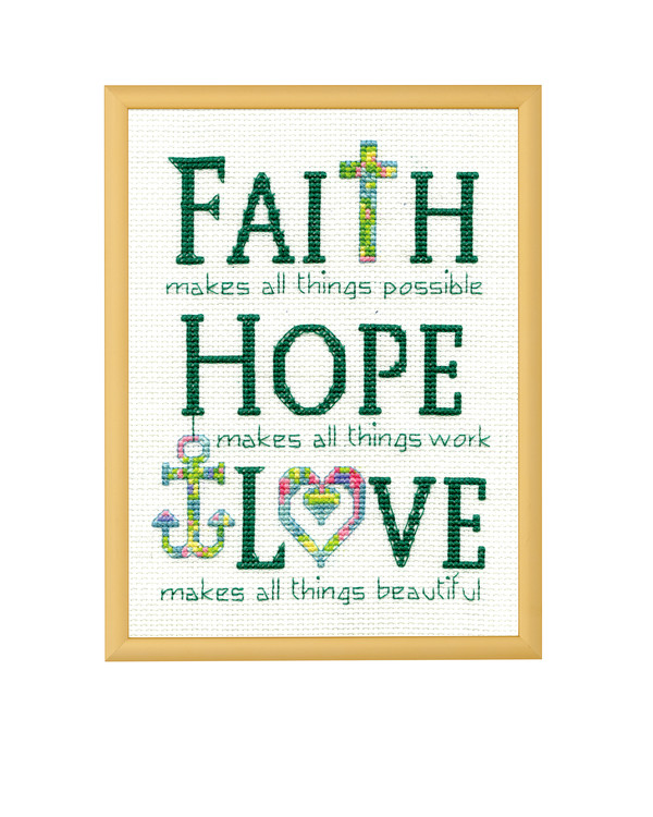 Broderikit Tavla Faith hope Love