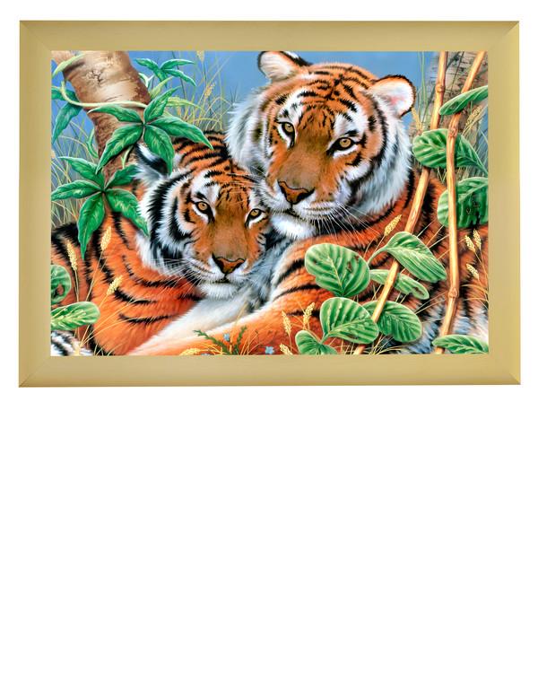 Kanavatyötaulu Tiikerit