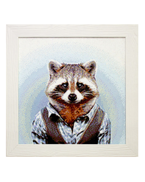 Diamond painting Mr Raccoon
