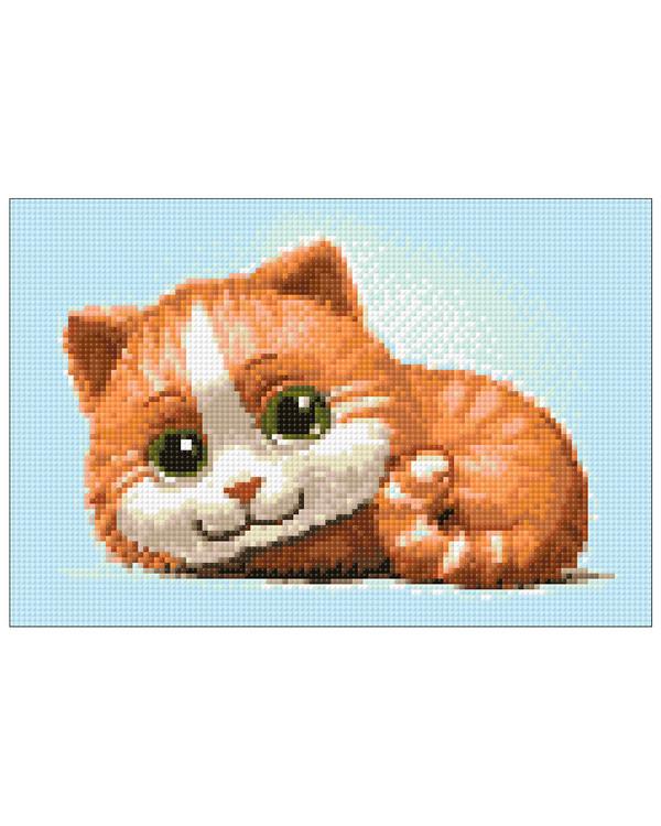 Diamond painting Röd katt