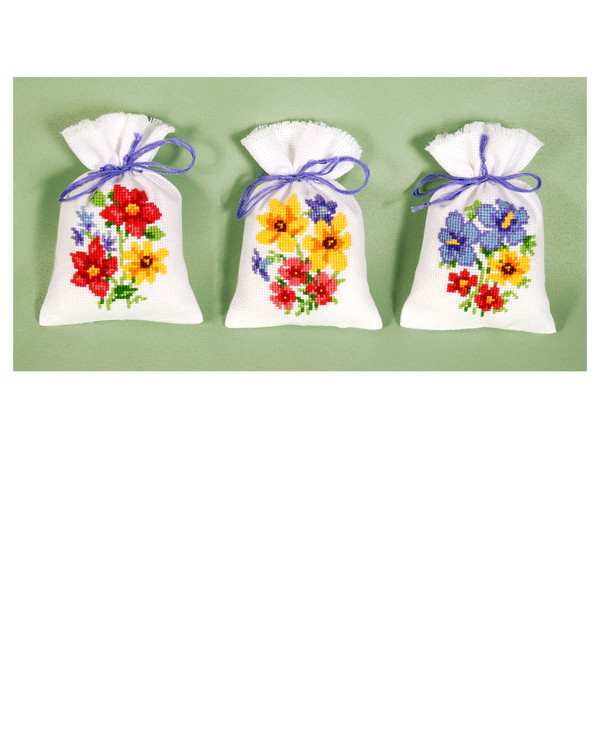 Dufttütchen Blumen 3-er Pack