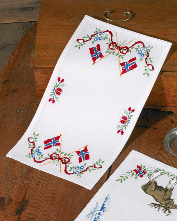 Løper Norgesflagg