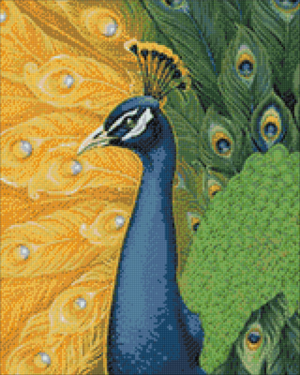 Diamond painting Påfugl