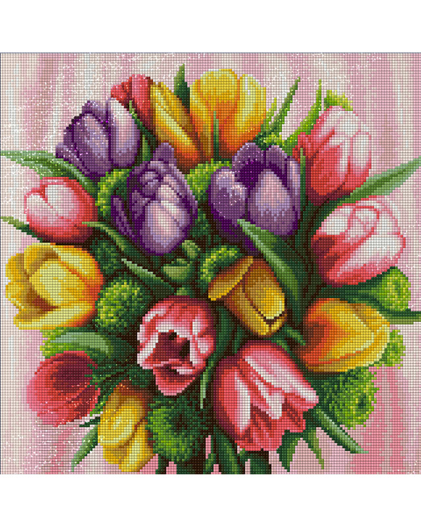 Diamond painting Tulipaner