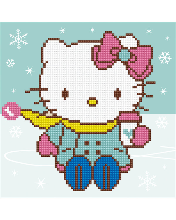Diamond Painting Hello Kitty i sneen