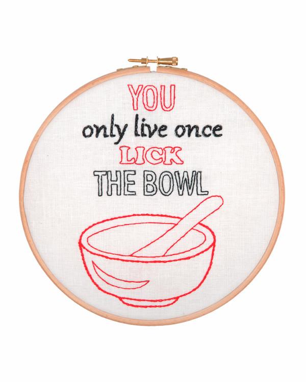 Broderipakke Bilde Lick the bowl