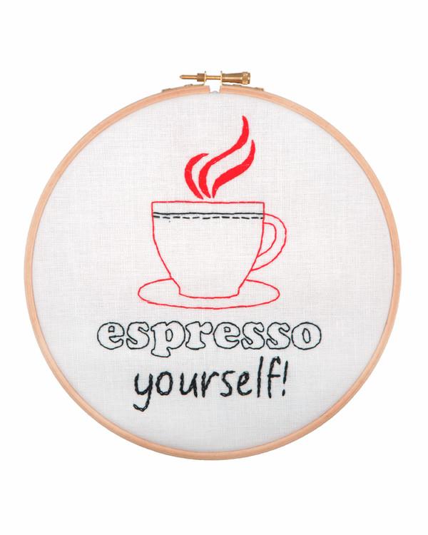 Broderikit Tavla Espresso yourself