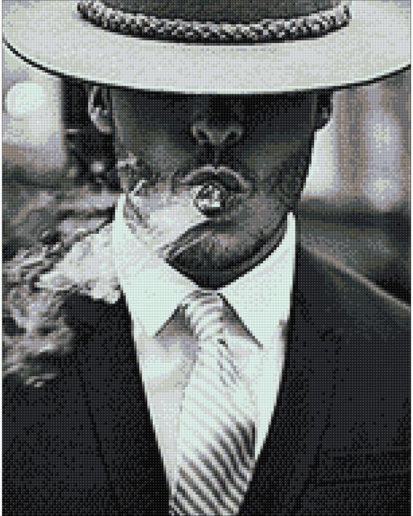 Diamond painting Smoking man
