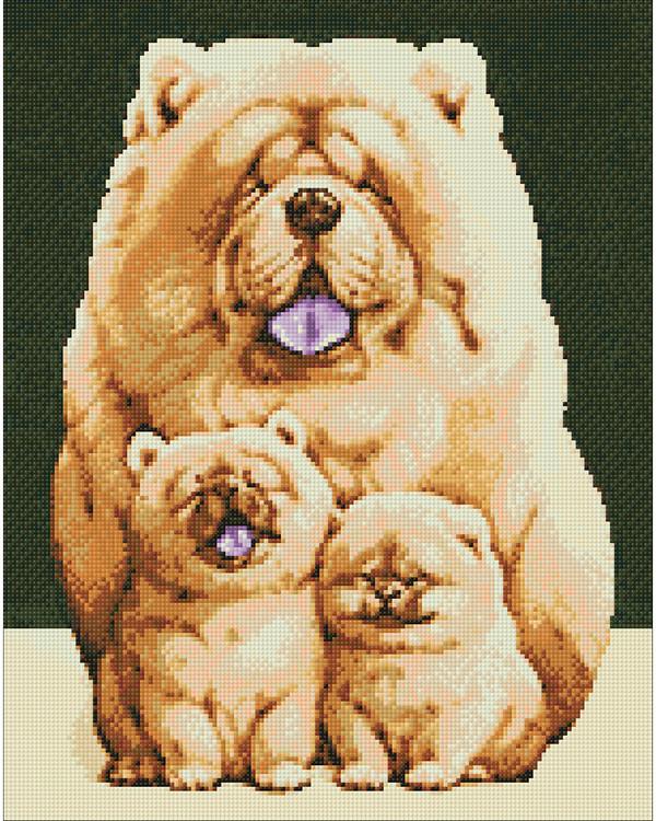 Diamond painting Pörröinen perhe