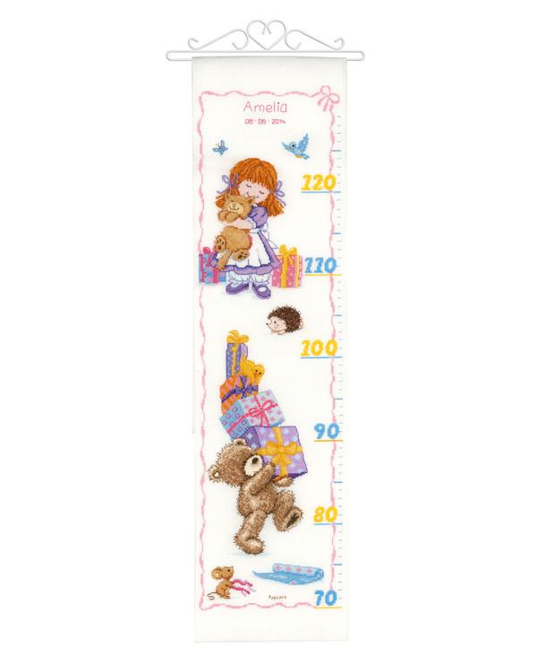 Kirjontapakkaus Mittaseinävaate Karhun syntymäpäivä