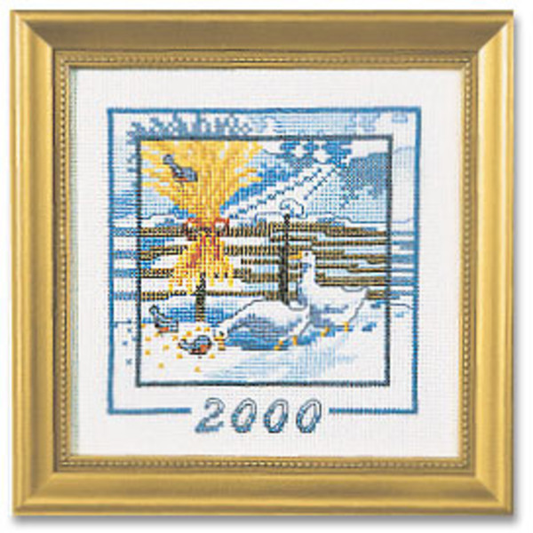 Broderikit 2000,årstavla aida