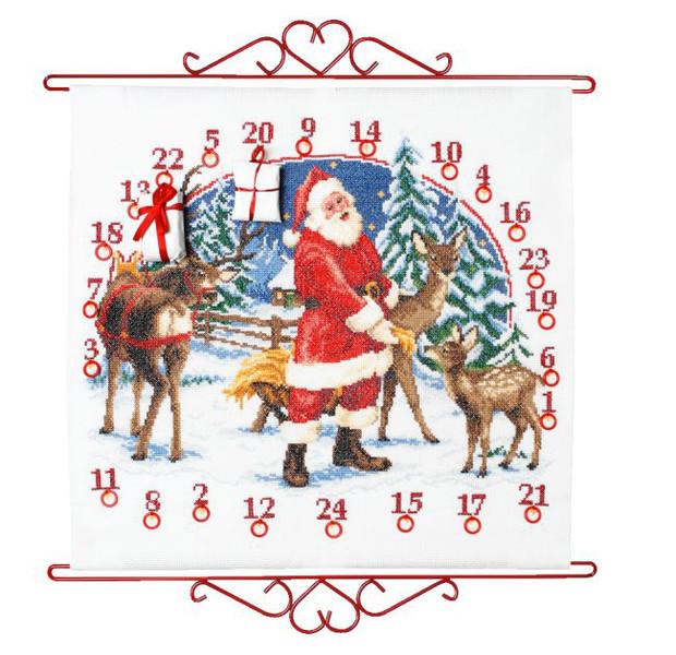 Broderikit Kalender Tomte och rådjur