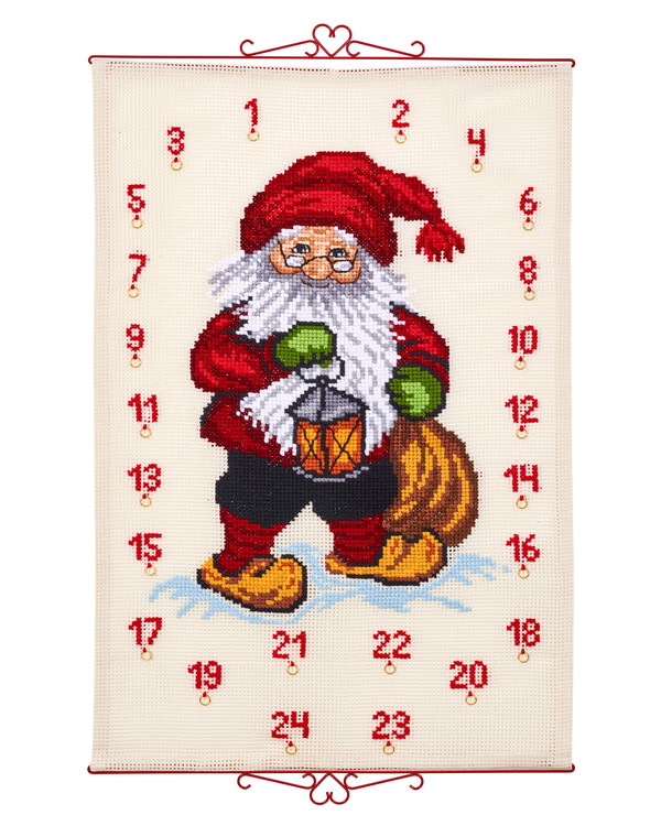 Broderipakke Kalender Nisse med lykt