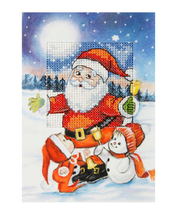 Kirjontapakkaus Joulupukin luistimet