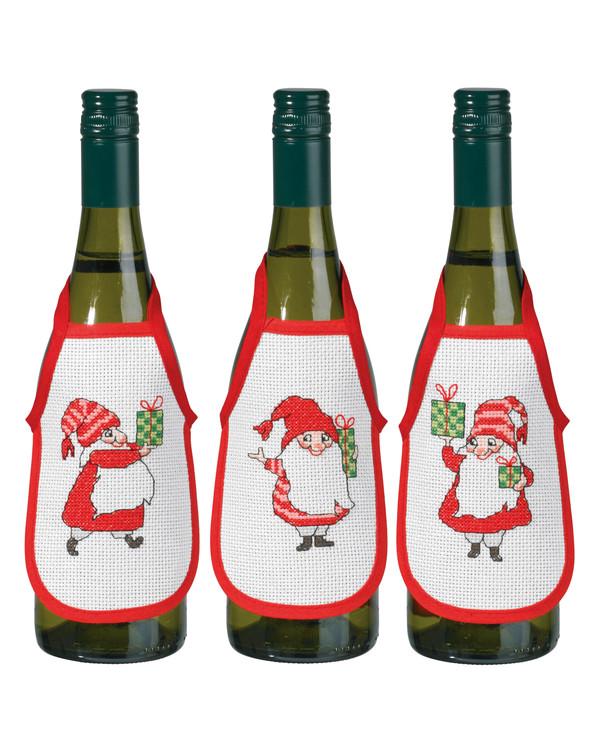 Broderipakke Flaskeforklær Nissenes gaver