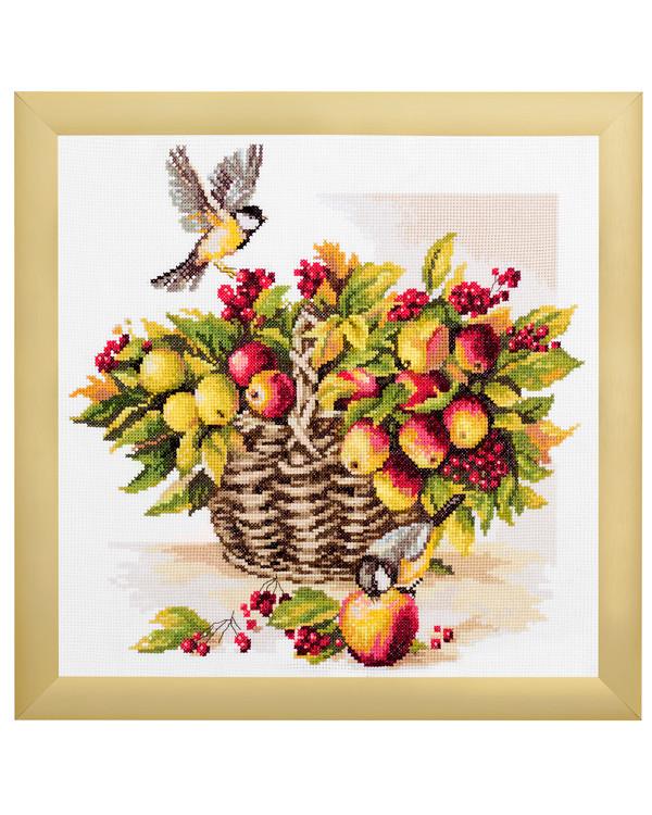 Kirjontapakkaus Taulu hedelmäinen syksy
