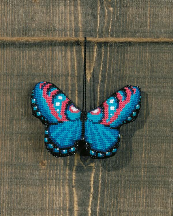 Dekoration Blå fjäril