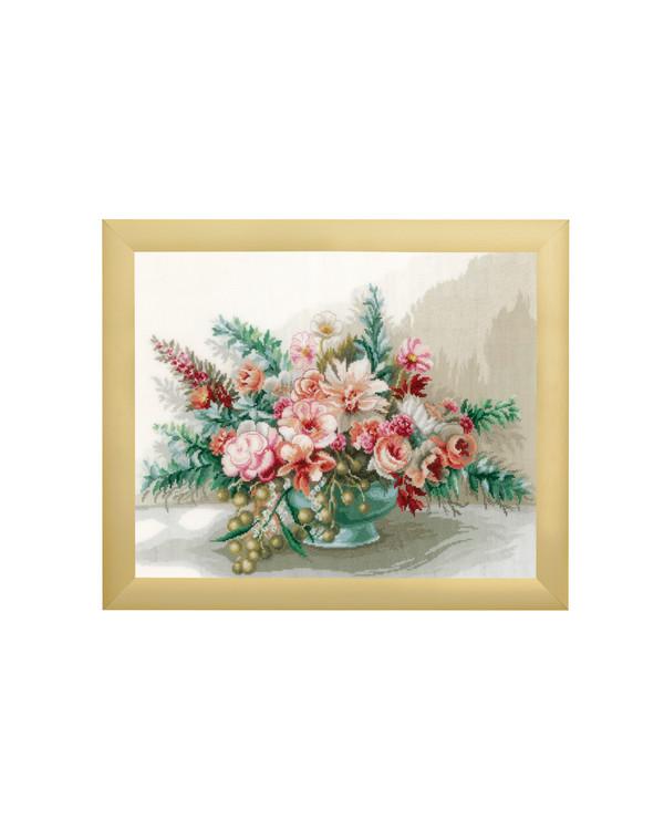Broderikit Billede Buket med blomster
