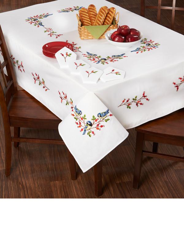 Broderipakke Middagsduk Fugler og bær