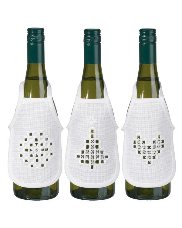Flaskförkläde Vitt 3-pack