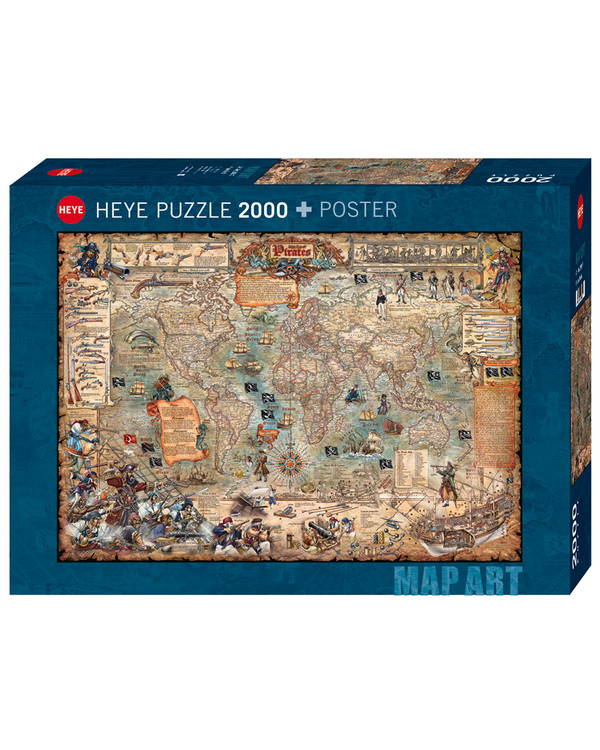 Pussel Piratkarta 2000 bitar