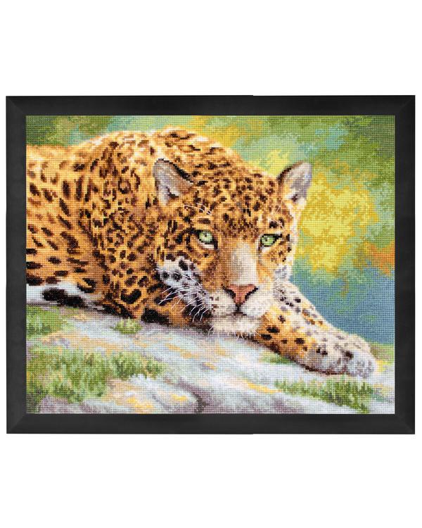 Broderikit Tavla Fridfull jaguar