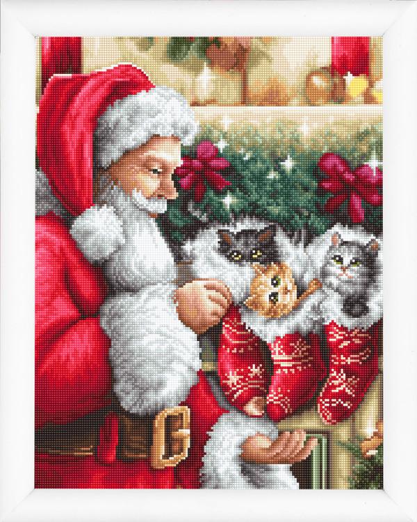 Stickpackung Bild Weihnachtskatzen