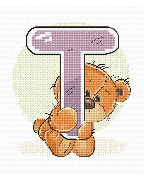 Broderipakke Bilde Teddybjørn T
