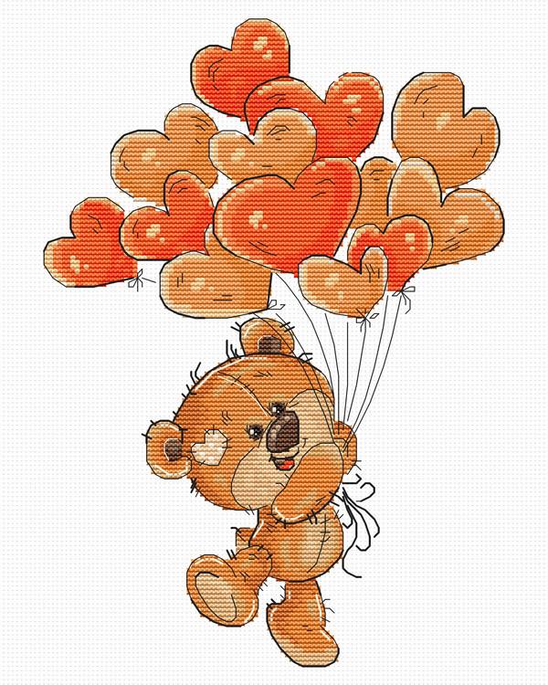 Stickpackung Bild Teddybär